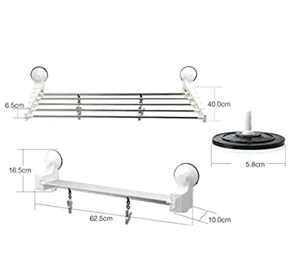 Exceptionnel BiuTeFang Towel Holder,Towel Bar Suction Cup Retractable Hanger Stainless  Steel Towel Rack Bathroom Accessory