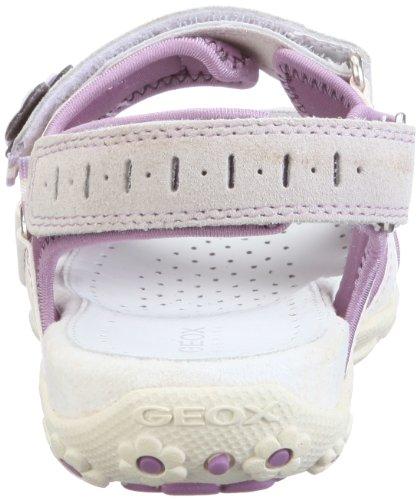4d51b122 ... Geox Jr Sandal Roxanne J22D9W05022C1022 - Sandalias de vestir para niña  Blanco ...