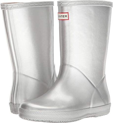 Hunter Kids Unisex First Classic Metal Rain Boot (Toddler/Little Kid) Silver 7 M US Toddler ()