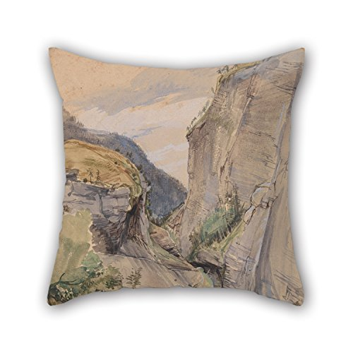 Alphadecor Throw Cushion Covers 18 X 18 Inches / 45 By 45 Cm(each Side) Nice Choice For Play Room Pub Bedroom Relatives Bedroom Chair Oil Painting John Frederick Lewis - The Via Mala