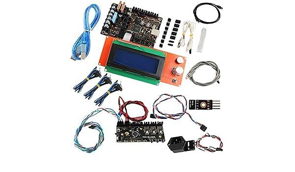 CUHAWUDBA Accesorios para Impresoras 3D Prusa I3 Mk3 Placa Base + ...