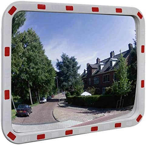 N/O Viel Spaß beim Einkaufen mit Verkehrsspiegel Konvex Rechteckig 60 x 80 cm mit Reflektoren