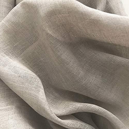 Robert Kaufman Veneto Linen Gauze in Flax (Pure Linen; 55