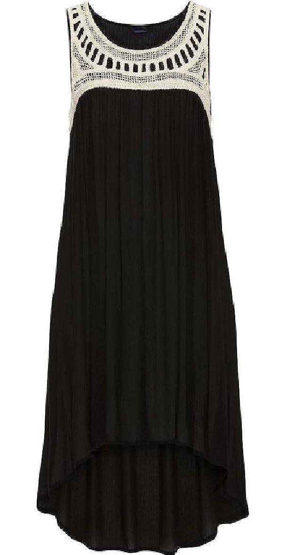 Amazon.com: Tymhgt-MX Womens Summer sin mangas de gasa vestido de alta baja sexy Loose Beach Black L: Clothing