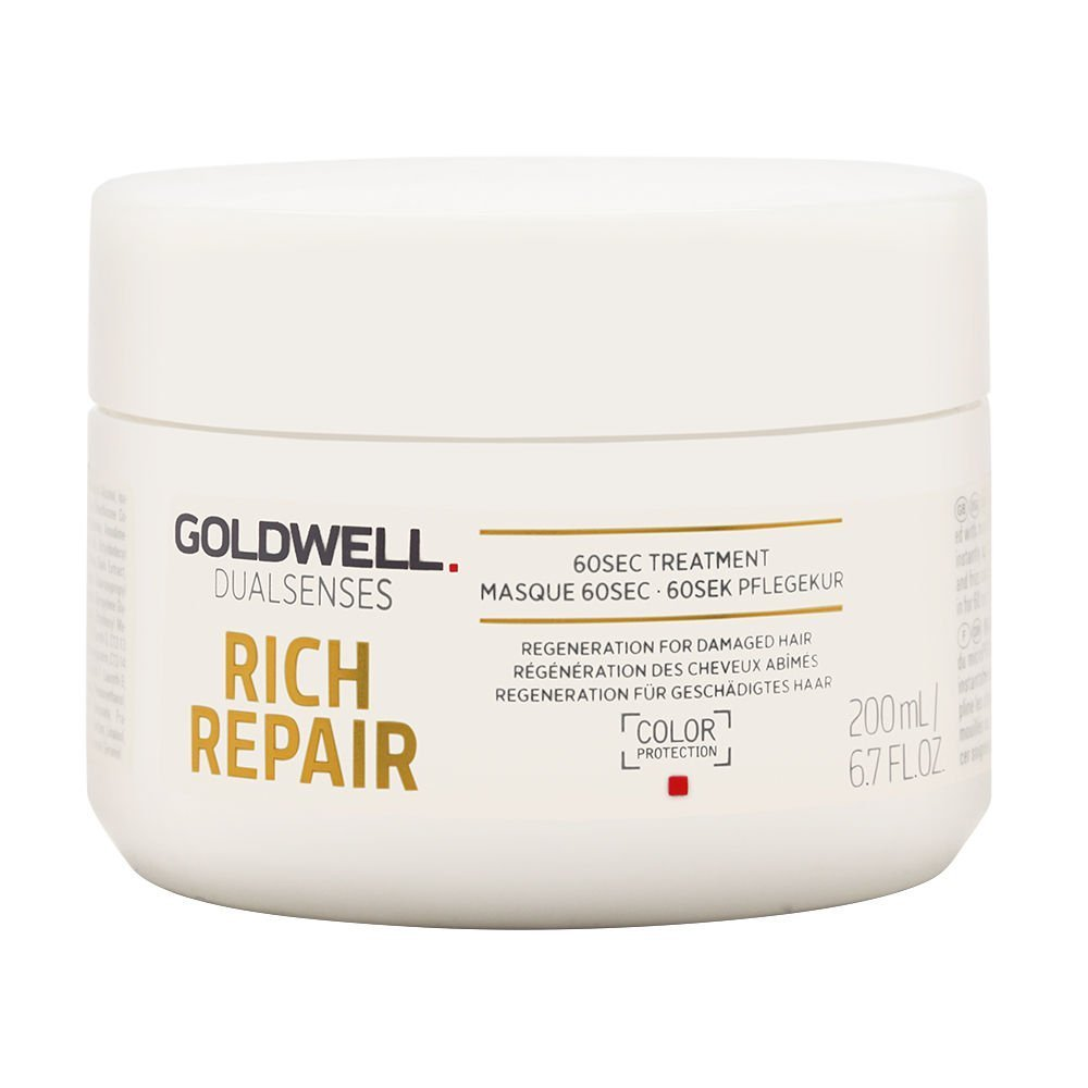 Goldwell Dualsenses Rich Repair Rest Oring 60sec. Treatment, 1er Pack (1X 200ML) 4021609061397