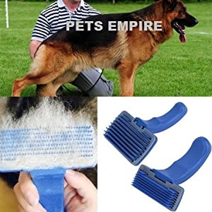 Pets Empire Dog Cat Hair Quick Clean Shedding Tool Brush Comb Pet Grooming Rakes (Big Size)