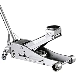 TONDA Aluminum 3T Trolley Floor Jack Low Profile, Rapid Pump and Quick Lift
