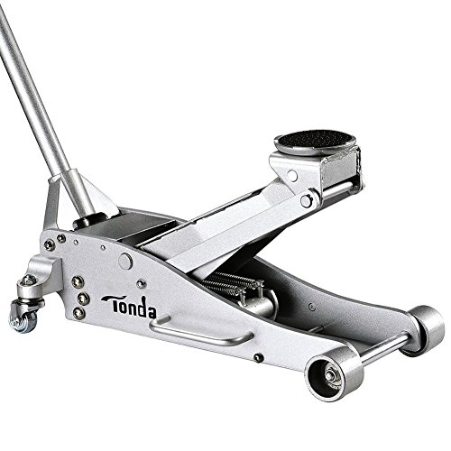 TONDA Aluminium 3T Trolley Floor Jack Low Profile, Rapid Pump and Quick Lift