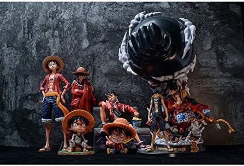 Luffy's volledige set van One Piece-figuren, Luffy-pakken uit verschillende periodes, Luffy's originele figuurensets