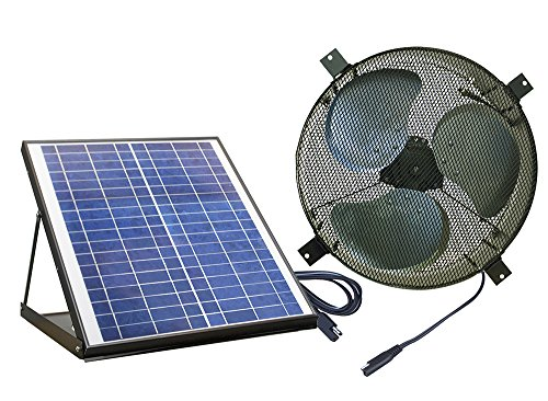 Nature Power 24208 Powered 1350CFM Attic Gable Vent Fan with 20W Solar Panel