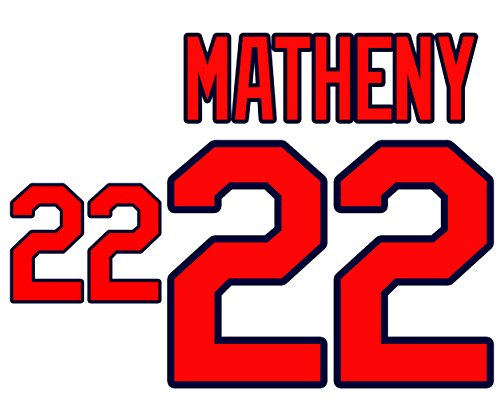(Mike Matheny St. Louis Cardinals Jersey Number Kit, Authentic Home Jersey Any Name or Number Available)