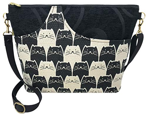Kitten Cat Purse - Danny K. Women's Tapestry Bag Shoulder Handbag, Large Zipper Purse Handmade in the USA (Meowser)