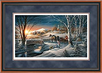 almost home by terry redlin limited edition framed print of 29500 signed numbered