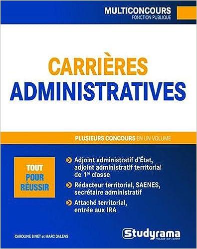 En ligne téléchargement Carrières administratives epub, pdf