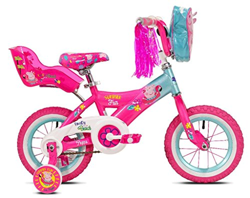 Girls 12 inch Peppa Pig Bike with Doll Seat by Kent International (Image #1)'