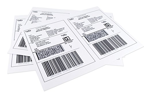 Chromalabel Half Sheet Shipping Labels, Compatible with Laser and Inkjet Printers, 8.5 x 5.5-Inch, 100 Labels