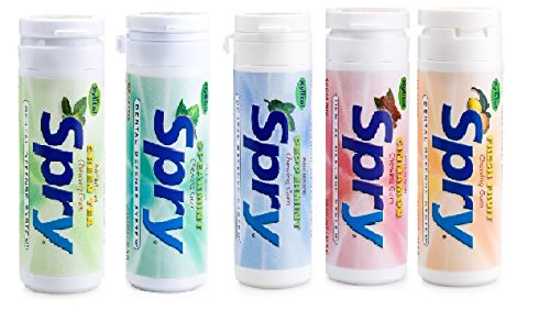 Spry Xylitol Gum, 5 Flavor Variety Pack, 30 Count Each - Great Tasting Natural Chewing Gum That is Aspartame Free, Promotes Oral Health, and Fights Bad (Gum With Xylitol)