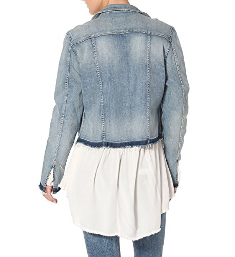 Co Womens Orlo With Hem Jeans Co D'argento Womens Destructed Jeans Jeans Giacca Down Destructed Di Let Small Silver Piccola I Denim Deluso Con Jacket ZXfS4Fwq