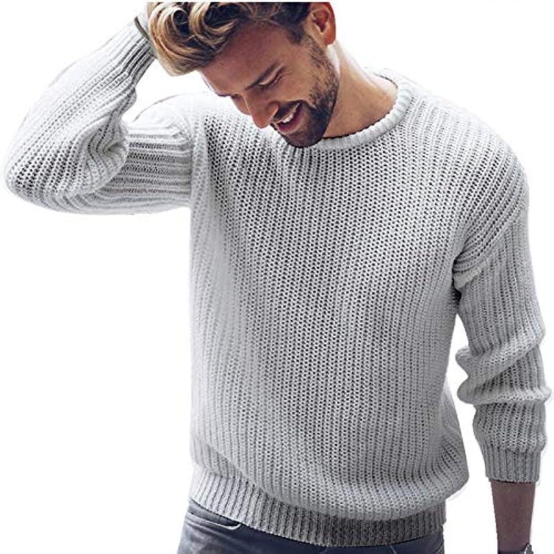 Męskie Thin Sweater Pullover Feder Solid O Neck Koreanische Pullover Slim Fit Strickpullover Pullover männlich gestrickt: Küche & Haushalt