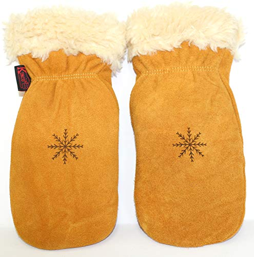 KINCO MITTENS - Suede Deerskin w the Warmest, Softest Pile Thermal Lining. Leather Ski Gloves for Women, Men, Youth & Children/Kids. Perfect Winter, Snow, Cold Weather, and Outdoor Gear (X-Small)