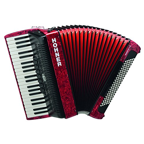 Hohner BR120R-N Bravo III 120 Bass Piano Accordion in Red by Hohner Accordions