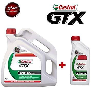 Aceite Motor Original Castrol GTX 10 W-40 A3/B4 LT. 5 (5 L ...
