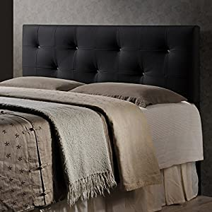 Baxton Studio Wholesale Interiors Dalini Headboard with Faux Crystal Buttons