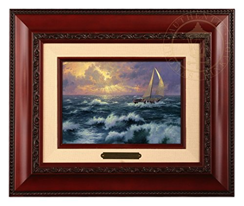 Thomas Kinkade Perseverance 5x7 Brushwork (Brandy Frame) (Thomas Kinkade Oil Painting)