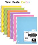 6 PACK: Mead Spiral Notebook, College Ruled, 1 Subject, (05201)