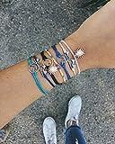 Pura Vida Gold Wave Black Bracelet - Handcrafted