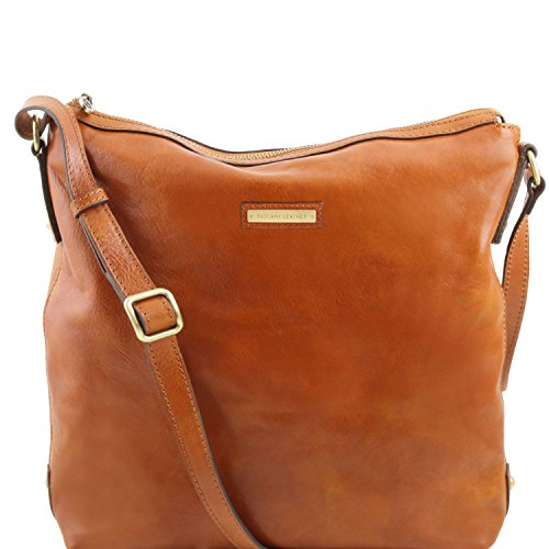 Tuscany Leather Alice Leather tote for woman - Large size Honey by Tuscany Leather