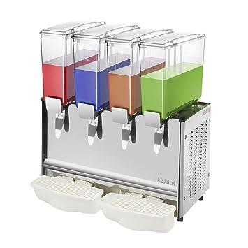 PrimeMatik - Máquina dispensadora de zumos y Bebidas frías comerciales de 9L x 4 Tanques: Amazon.es: Electrónica