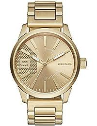 Men's 'Rasp' Quartz Stainless Steel Casual Watch, Color:Gold-Toned (Model: DZ1761)