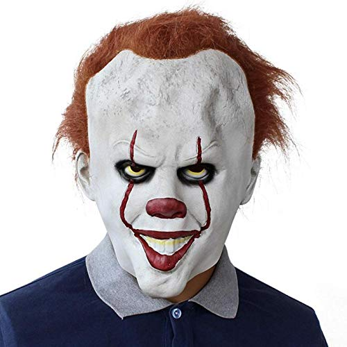 Halloween Pennywise Mask Costume Stephen King It 2 Scary Clown Men 39 S Cosplay Prop Children Toy - Party Masks -