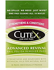 Cutex Nail Polish Remover, Advanced Revival Pads, 10 Count (pack of 3)