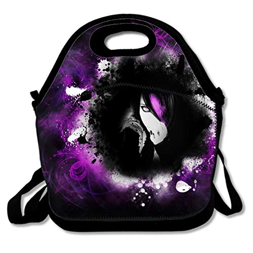 IMISS Reusable Lunch Tote Bag Waterproof Insulated Lunch Bag Lunch Box Tote Bag Handbag Artistic Women Human Hair Woman Girl Pink Purple Emo