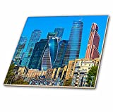 3dRose Alexis Photo-Art - Moscow City - Moscow City Art. Skyscrapers of the International Business Center - 6 Inch Glass Tile (ct_273740_6)