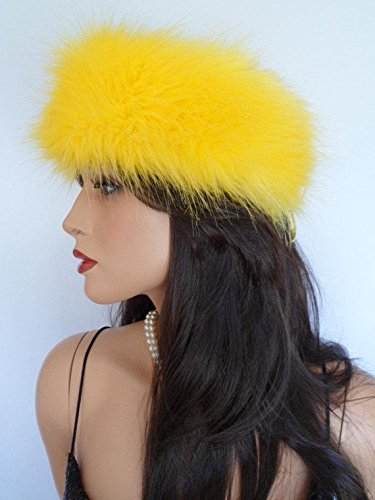 Image Unavailable. Image not available for. Colour  yellow fur headband ... f31410a9d89