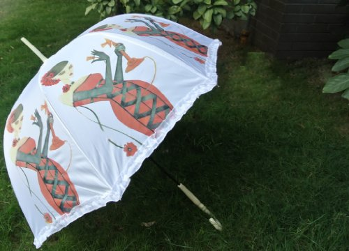 Nw Fashion Art Lady Gaga Girl Dressup 34″ Deep Dome Photography Umbrella Parasol, Outdoor Stuffs