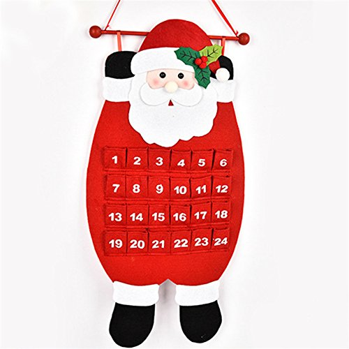 Winnerbe Christmas Party Home Decoration Old Man Calendar Pendant Toys For Kids Children Gift