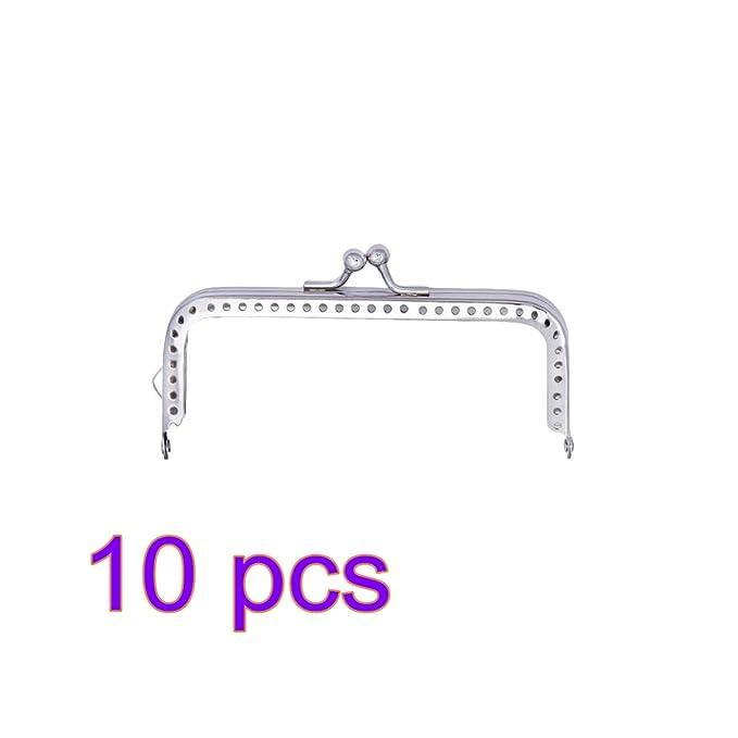 IPOTCH Cierre de Boquilla para Bolso Marco de Bloqueo Manija de Cartera de Metal 10.5cm