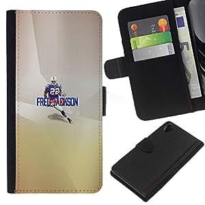 22 Jackson Fútbol - la tarjeta de Crédito Slots PU Funda de cuero Monedero caso cubierta de piel Para Sony Xperia Z2 D6502