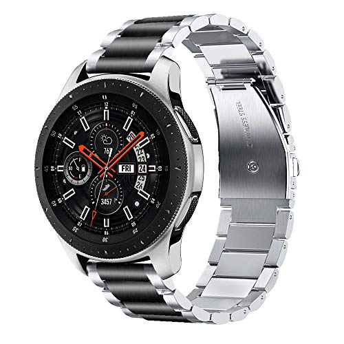 Compatible Samsung Galaxy Watch(46mm) Bands, 22mm Solid Stainless Steel Metal Business Replacement Bracelet Strap Compatible Samsung Galaxy Watch 46mm