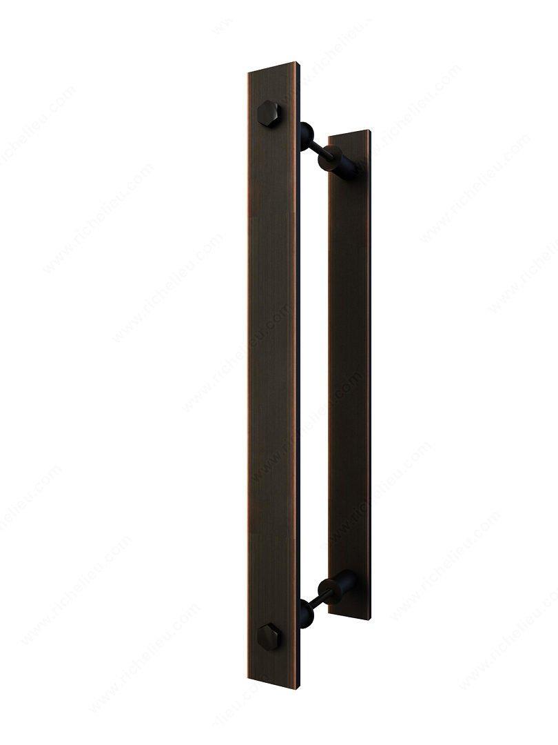Stylish Rustic Style Barn Door Handle 11-13/16 Inch Center to Center Barn Door Pull for Passage Sliding Door (1, Brushed Oil-Rubbed Bronze)