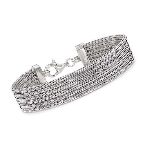 Ross-Simons Italian Sterling Silver Multi-Strand Mesh Bracelet ()