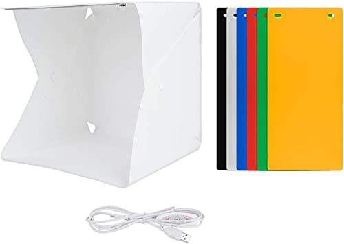 Mini Caja de Estudio Caja de Luz para Estudio Fotográfico con Doble Barra de Luz LED y Fuente de Alimentación USB para Productos Pequeños: Amazon.es: Electrónica