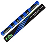 Elite Massage Roller Stick Targets Sore, Tight Leg Muscles to Prevent Cramps and Release Tension. It's Sturdy, Lightweight, Smooth Rolling and Thankfully This Lifesaver has Comfortable Handles.Blue