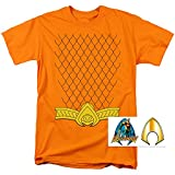Aquaman Scales Belt Logo T Shirt & Exclusive Stickers (X-Large)