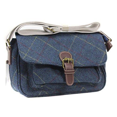 Satchel YDezire Navy Ladies Body Small Shoulder Tweed UK Handbag Bag Womens Tweed Cross 8q8BrFw