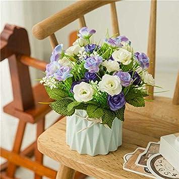 Amazon.com: Jhyflower - Ramo de flores secas de plástico con ...